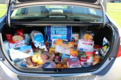 Trunkload Of Groceries From Our Contest ....... Thank You Wheeler Toyota